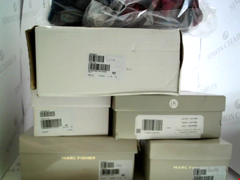 Lot 3061 LOT OF APPROXIMATELY 7 ASSORTED PAIRS OF FOOTWEAR TO INCLUDE; MARC FISHER, PK, SLIPPERS ETC