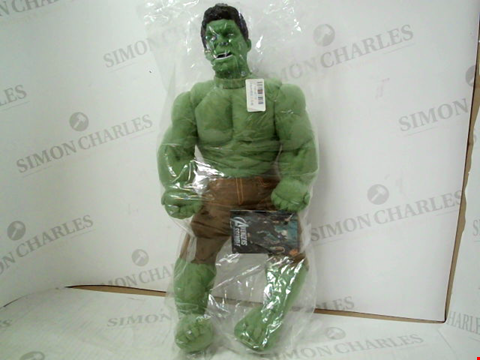 "Lot 3128 MARVEL AVENGERS ""HULK"" PLUSH ACTION FIGURE"