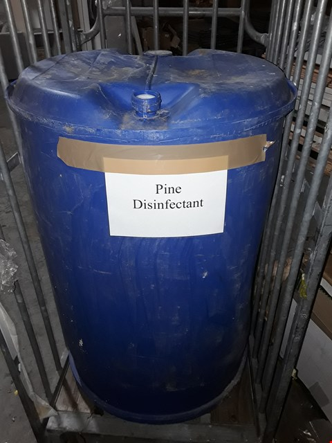 Lot 10033 200L DRUM OF PINE DISINFECTANT (Cage not included)