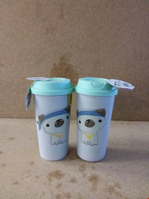 Lot 288 LOT OF 2 ITEMS TO INCLUDE TWO PUG-LIFE TRAVEL MUGS