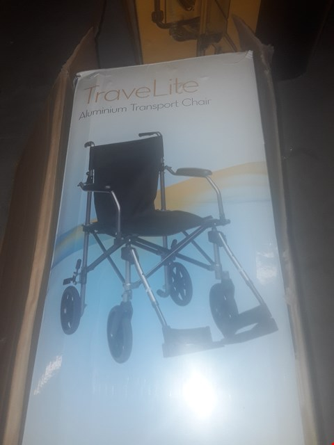 Lot 9545 DRIVE DEVILBISS TRAVEL LITE ALLUMINIUM TRANSPORT  CHAIR