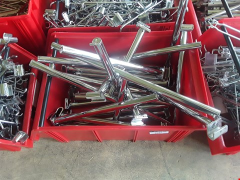 Lot 2039 BOX OF METAL RAILING FITTINGS