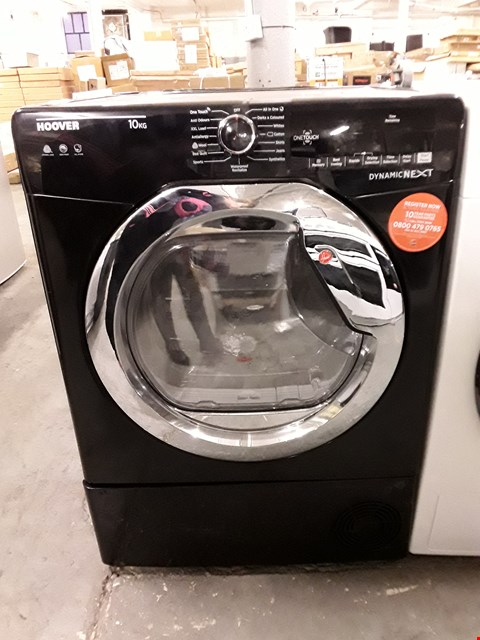 Lot 37 HOOVER DYNAMIC NEXT DX C10TCEB-80 FRONT-LOADING ELECTRIC DRYER - 10 KG - BLACK RRP £379
