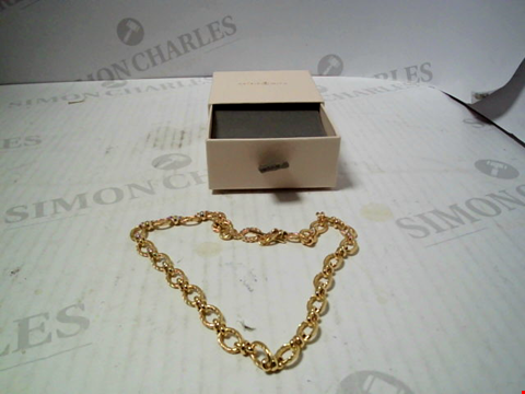 Lot 5748 DESIGNER YELLOW GOLD TONE NECKLACE
