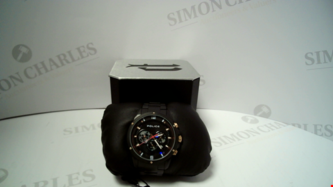 Lot 18029 DESIGNER GENTS BLACK METAL STRAP WRISTWATCH