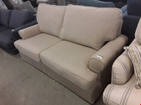 Lot 10 QUALITY BRITISH DESIGNER NATURAL WEAVE BERKELEY 3 SEATER SOFA