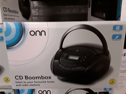 Lot 1173 BOXED ONN CD AM/FM RADIO BOOMBOX IN BLACK  RRP £12