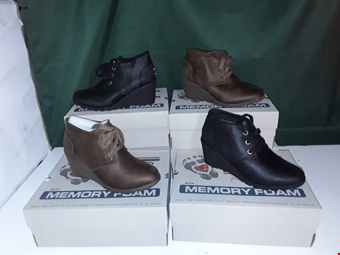 Lot 1069 LOT OF 6 PAIRS OF BOB'S FROM SKETCHERS MEMORY FOAM BOOTS ASSORTED COLOURS