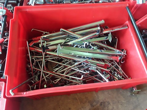 Lot 2030 BOX OF METAL RAILING FITTINGS