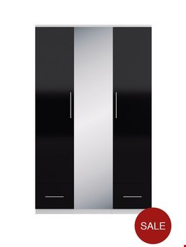 Lot 623 BOXED COLOGNE DARK OAK EFFECT 3-DOOR 2-DRAWER WARDROBE (2 of 3 BOXES ONLY)  RRP £649.00