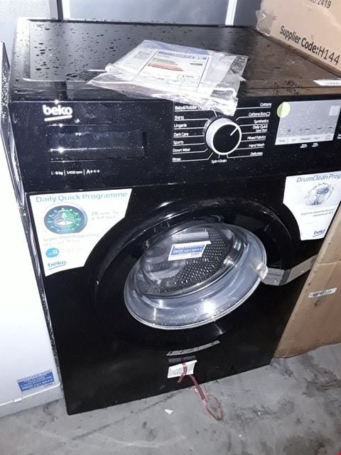 Lot 10009 BEKO BLACK 8KG WASHING MACHINE WTG841M2B RRP £359.99