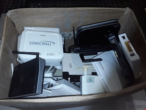 Lot 4215 LARGE QUANTITY OF ASSORTED ROUTER AND HOME CONNECTIVITY ITEMS INCLUDE SONIC WALL, BT, A-LINE AND EDIMAX