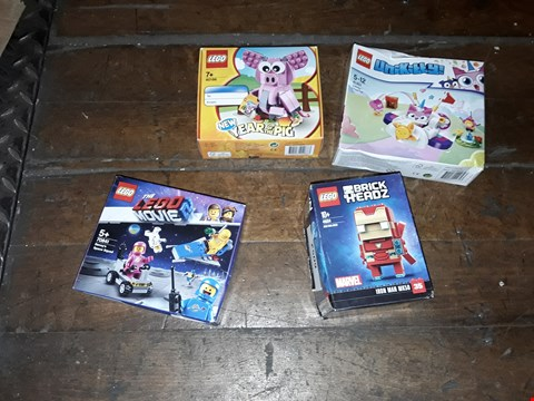 Lot 6052 LOT OF 4 LEGO SETS TO INCLUDE UNIKITTY , THE LEGO MOVIE ETC
