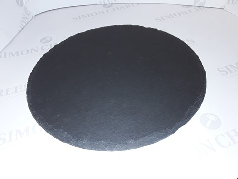 Lot 5 BOX OF APPROXIMATELY 12 ROUND SLATE PLACEMATS