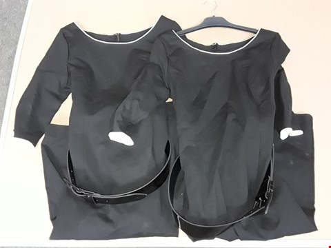 Lot 67 LOT OF APPROXIMATELY 10 BLACK PONTE DRESSES IN VARIOUS SIZES