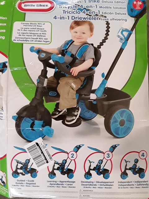 Lot 2283 BOXED LITTLE TIKES 4 IN 1 DELUXE EDITION PUSH TRIKE RRP £115
