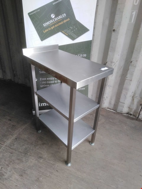 Lot 3011 STAINLESS STEEL 3 TIER SHELVING UNIT