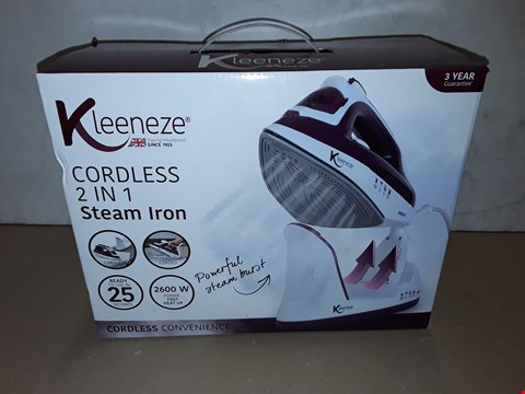 Lot 8006 BOXED KLEENEZ CORDLESS 2IN1 STEAM IRON
