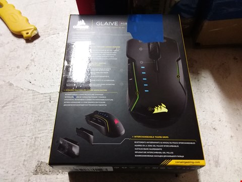 Lot 727 CORSAIR GLAIVE GAMING MOUSE