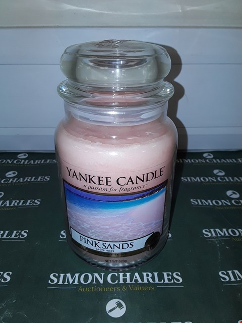 Lot 9131 LARGE YANKEE CANDLE - PINK SANDS  RRP £20.00