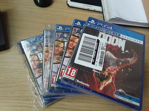 Lot 54 LOT OF 5 BRAND NEW PLAYSTATION 4 GAMES INCLUDING GRAND THEFT AUTO V AND DOOM