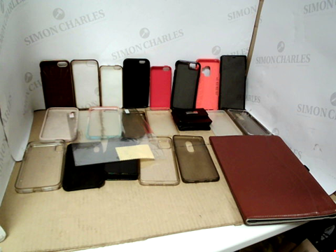 Lot 6200 BOX OF ASSORTED PHONE AND TABLET CASES ETC