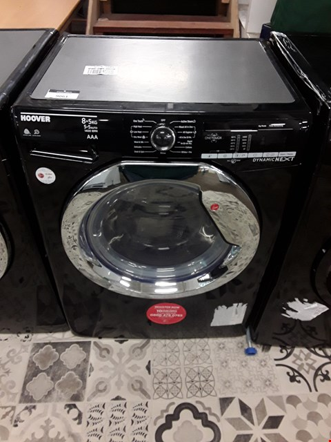 Lot 9061 HOOVER DYNAMIC 8KG WASHING MACHINE IN BLACK/CHROME