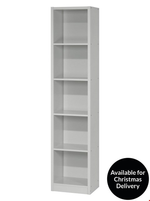 Lot 142 METRO GREY TALL WIDE BOOKCASE (1 BOX)  RRP £62