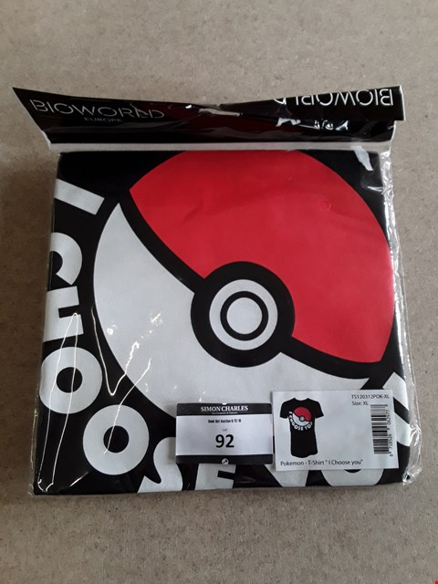 Lot 92 BRAND NEW POKEMON OFFICIALLY LICENSED T-SHIRT