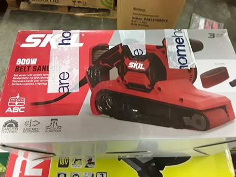 Lot 10 BOXED SKIL 800W BELT SANDER  RRP £60