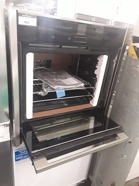 Lot 422 NEFF B57CR22 HIDE AND SLIDE INTEGRATED PYROLITIC ELECTRIC OVEN