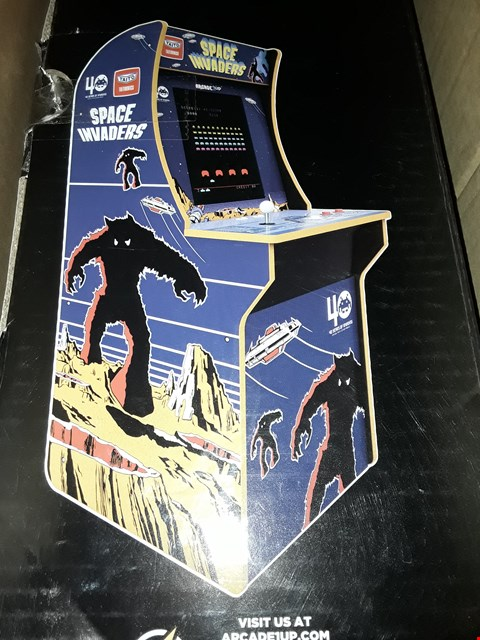 Lot 3123 BOXED GRADE 1 ARCADE 1UP - SPACE INVADERS ARCADE MACHINE