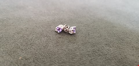 Lot 77 18CT WHITE GOLD STUD EARRING SET WITH HEART SHAPED TANZANITES AND DIAMOND ACCENTS TOTAL WEIGHT +0.64 CT  RRP £1400.00