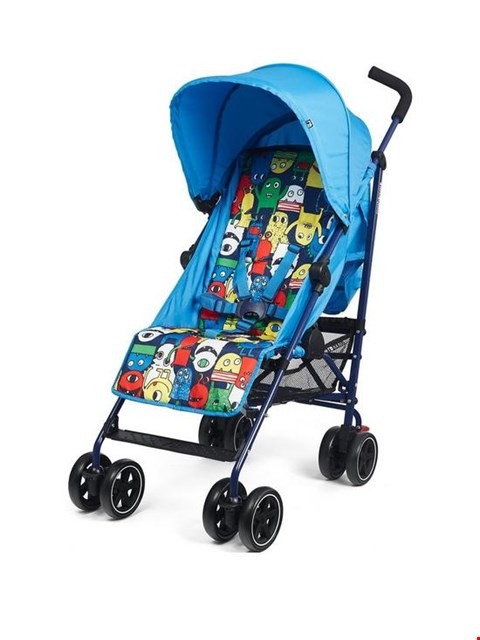 Lot 1228 BRAND NEW MOTHERCARE NANU MONSTER PRINT STROLLER (1 BOX) RRP £74.99