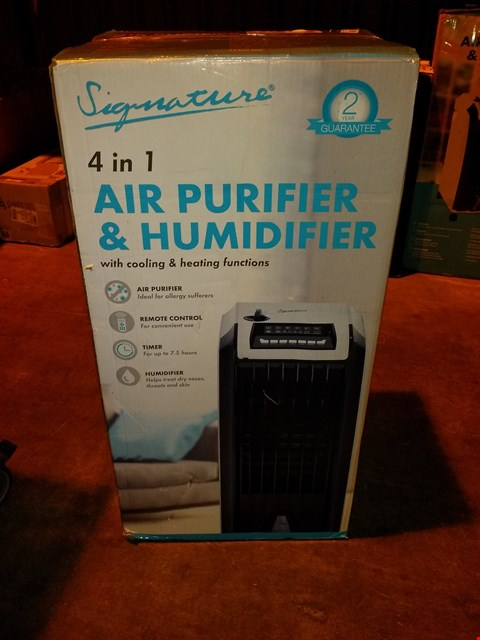 Lot 5836 SIGNATURE 4 IN 1 AIR PURIFIER AND DEHUMIDIFIER