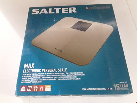 Lot 17033 BOXED SALTER MAX ELECTRONIC PERSONAL SCALE