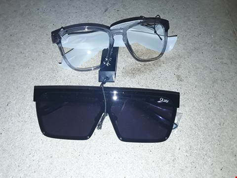 Lot 9275 GRADE 1 QUAY RENIA X JLO CATEYE SUNGLASSES AND GRADE 1 QUAY SHADE QUEEN X BENEFIT SUNGLASSES RRP £110.00