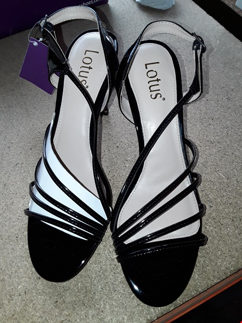 Lot 7062 BOXED BLACK HIGH HEEL SHOES SIZE 5