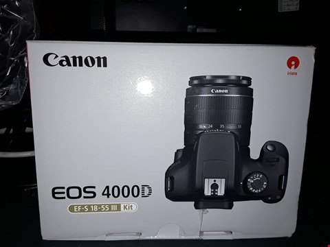 Lot 2363 BOXED GRADE 1 CANON EOS  4000D EF-S 18-55 III KIT  RRP £469.99