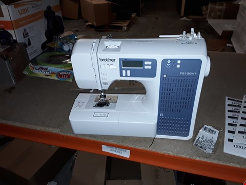 Lot 12778 BROTHER FS100WT FREE MOTION EMBROIDERY/SEWING AND QUILTING MACHINE, WHITE
