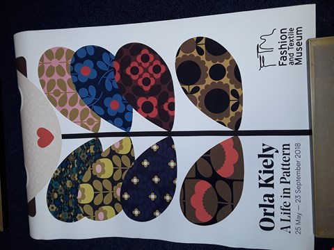 Lot 10 ORLA KIELY FASHION AND TEXTILE MUSEUM EXHIBITION POSTER
