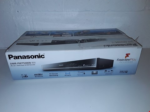 Lot 41 PANASONIC DMR-PWTTP550EB BLUE-RAY - DVD PLAYER AND HDD RECORDER