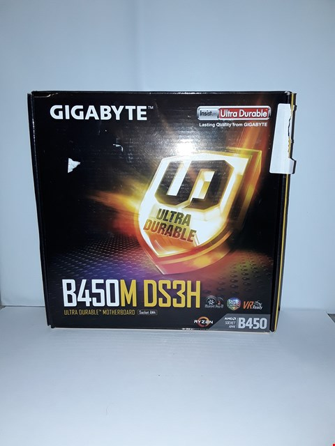 Lot 4029 GIGABYTE B450M DS3H ULTRA DURABLE MOTHERBOARD