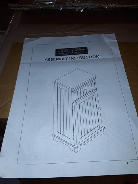 Lot 276 BOXED HOUSE OF BATH 1 DRAWER 1 DOOR WHITE CABINET