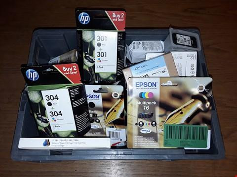 Lot 8109 CRATE OF ASSORTED PRINTER INK CARTRIDGES TO EPSON AND HP