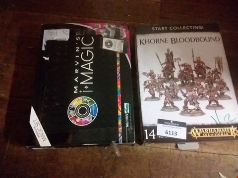 Lot 6113 2 TOYS INCLUDING KHORNE BLOOD BOUUD AND MARVINS MAGIC