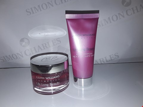 Lot 868 JUDITH WILLIAM'S COSMETICS LIFE LONG BEAUTY ROSE STEM CELL GEL MASK 100ML/ ROSA CENTIFOLIA NECK AND DECOLLETAGE CREAM 100ML