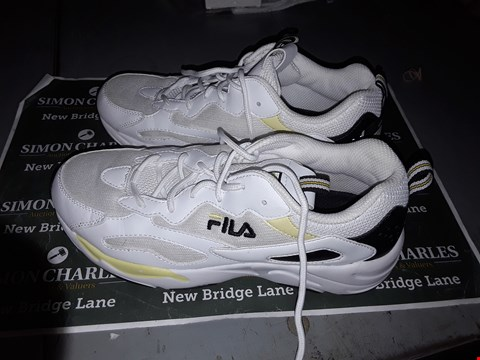 Lot 9022 FILA , FOOTWEAR SIZE UK 6 IN WHITE & YELLOW