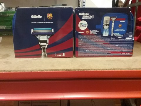 Lot 7046 LOT OF 2 BARCELONA /GILLETTE MACH 3 TURBO SHAVING KITS