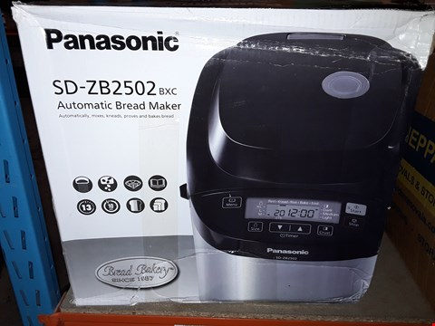 Lot 595 PANASONIC BLACK AUTOMATIC BREAD MAKER
